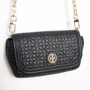 NEW Tory Burch Bryant Quilted Crossbody Bag Black